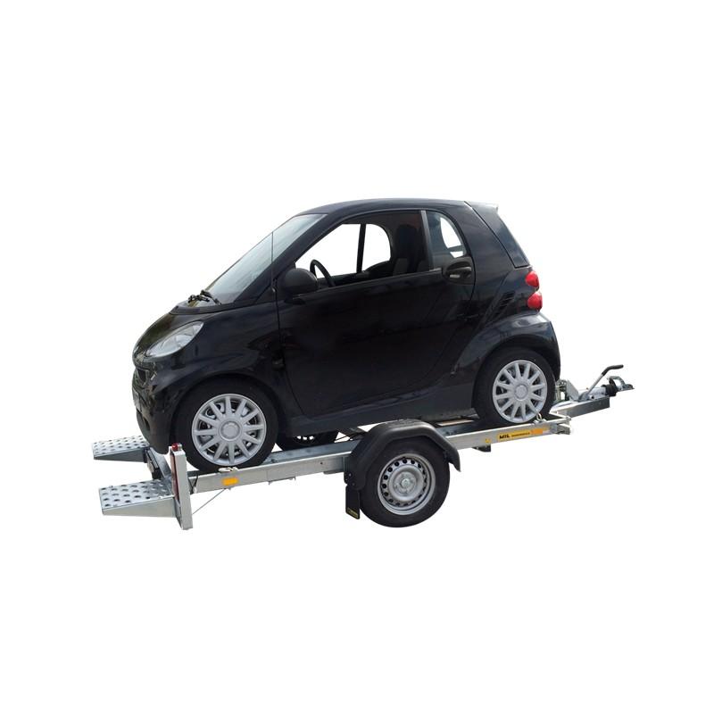 Porte voiture mini soumat remorques for Porte voiture